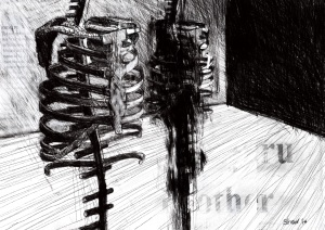 The Waiting Room, 2014. Digital Drawing on Paper, 594 x 841 mm