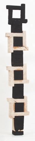 Elegy, 2015. Wood and Charcoal, 123cm x 18cm x 9cm