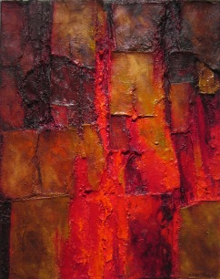 Staunching the Wound II, 2007. Oil on Canvas, 40 x 48cm