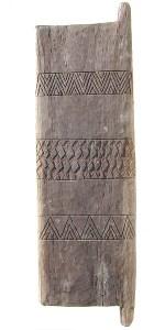 Tonga Door, Wood. Height 175cm