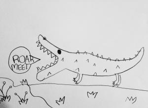 Eden, Roar Meet. A4, pencil on paper