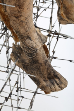 "Amike du Plessis, 2015. ""The Unfulfilled Promise"" (Detail). Nails and Paper, height 218cm."